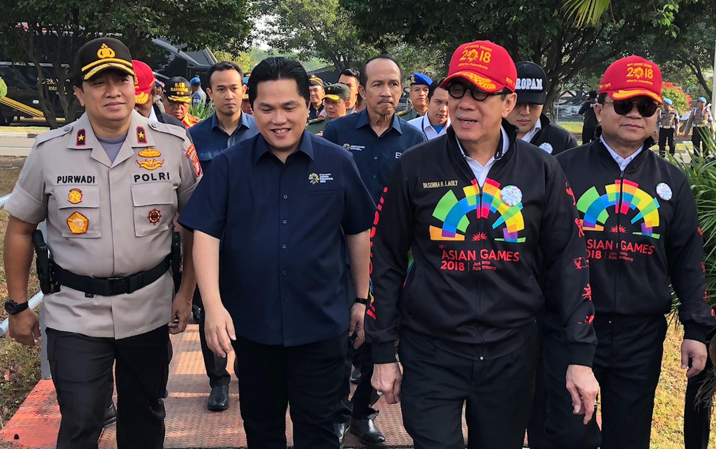 Mengecek persiapan pelaksanaan Asian Games 2018