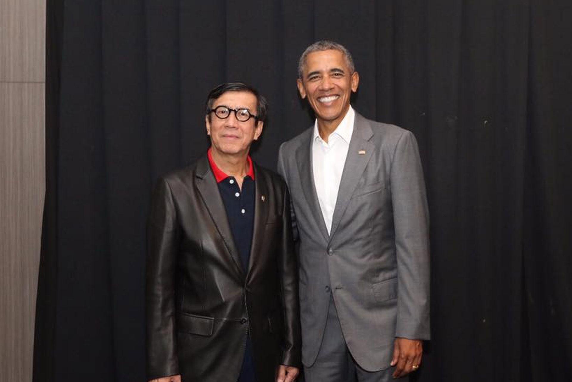 Bersama Mantan Presiden Amerika Serikat Barrack Obama