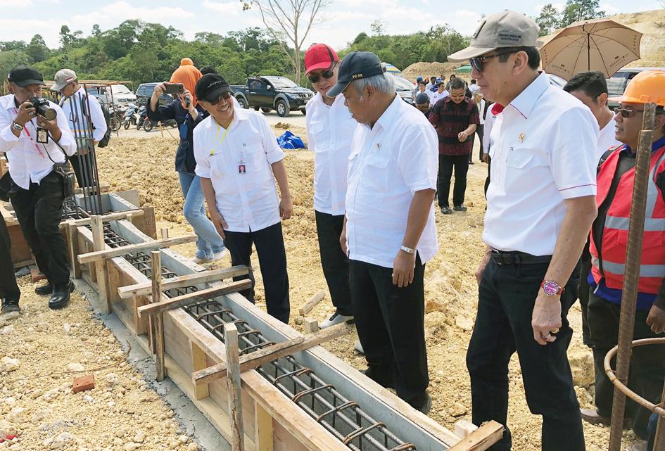 Bersama Menteri PUPR Basuki Hadimuljono meninjau Pembangunan Lapas Super Maximum Security di Nusa Kambangan