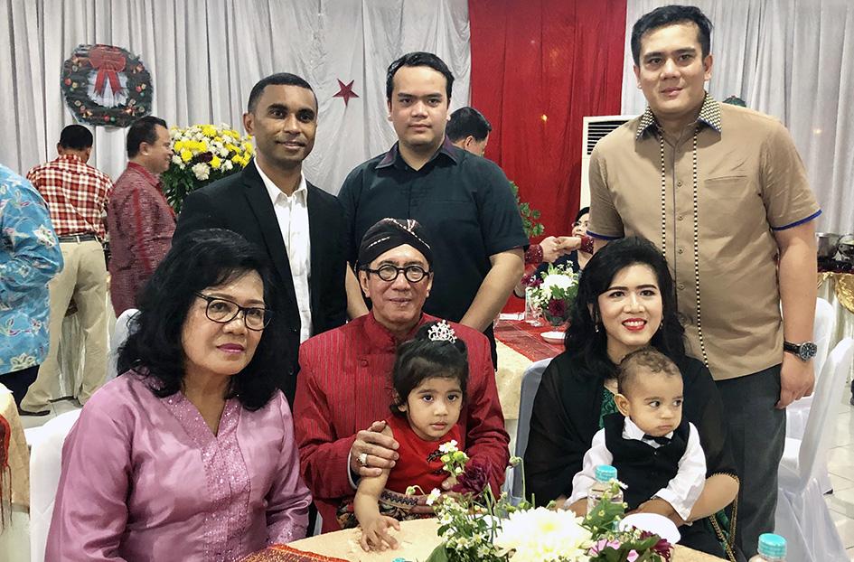 Keluarga saat Natal Nasional 2018