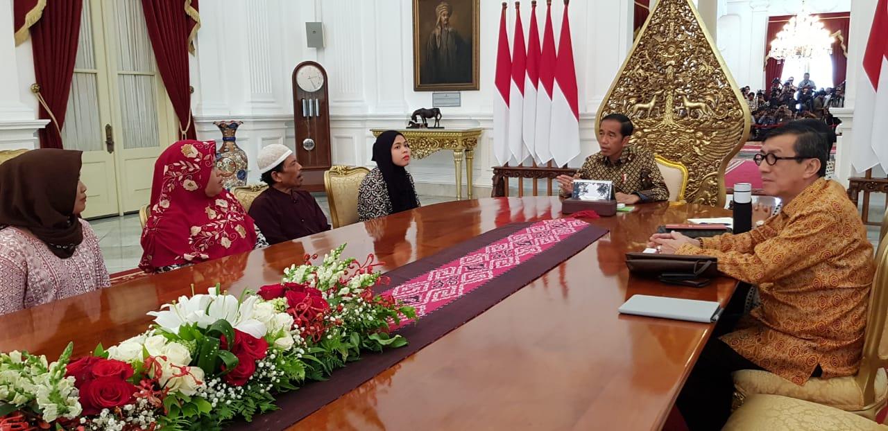 Presiden terima Siti Aisyah di Istana Merdeka