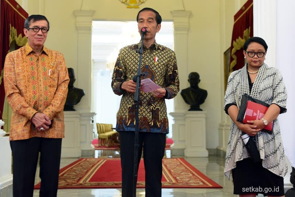 Konfrensi Pers kebebasan Siti Aisyah.