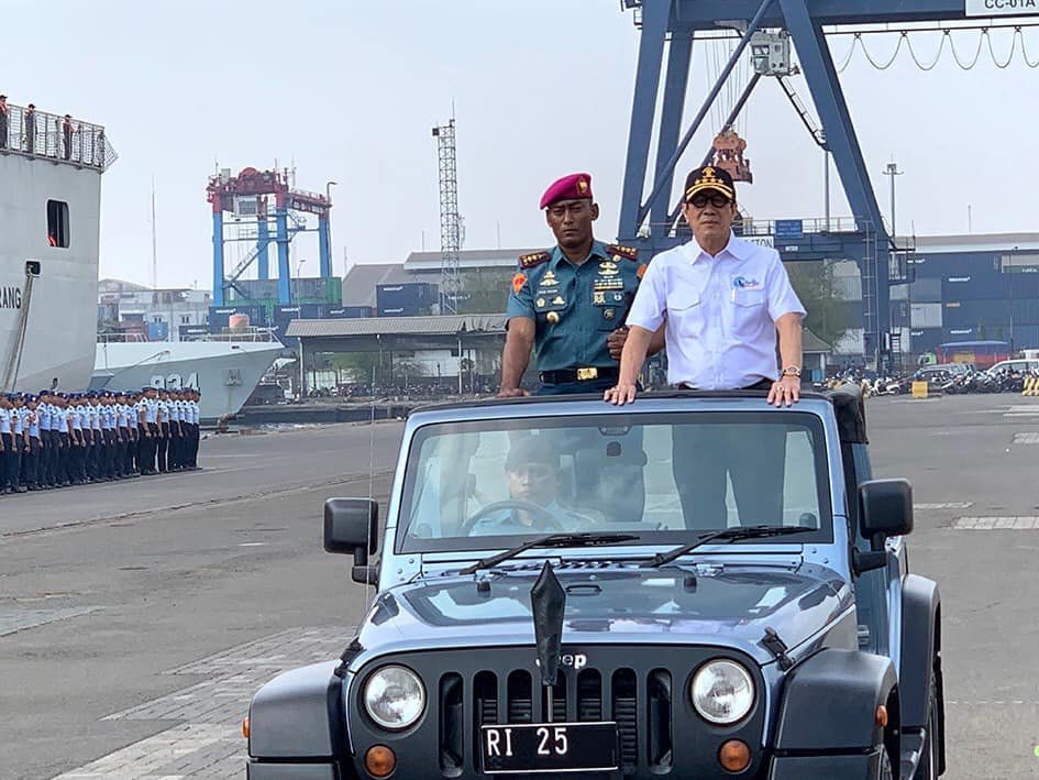 Sebagai Inspektur Upacara pada Pemberangkatan Satgas Sail Nias 2019, yang berjumlah 1,310 personil yang terdiri dari TNI AL, Pramuka dan perwakilan Kementerian dan Lembaga.