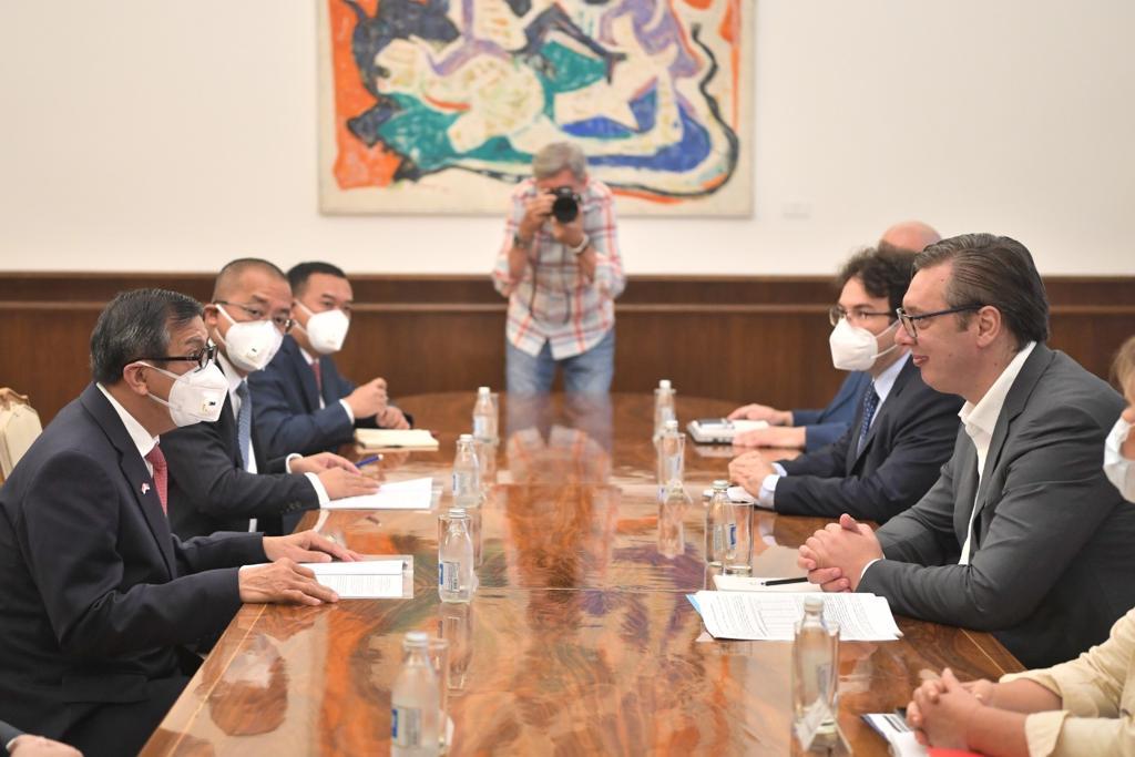 Menkumham Yasonna Laoly bertemu Presiden Serbia